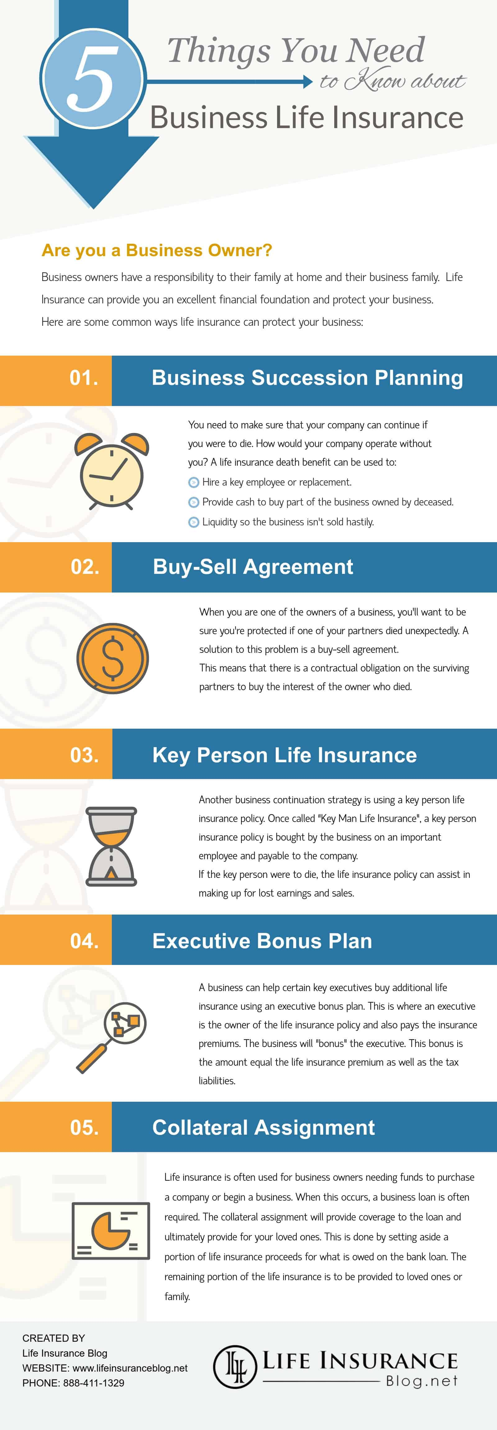 business life insurance infographic