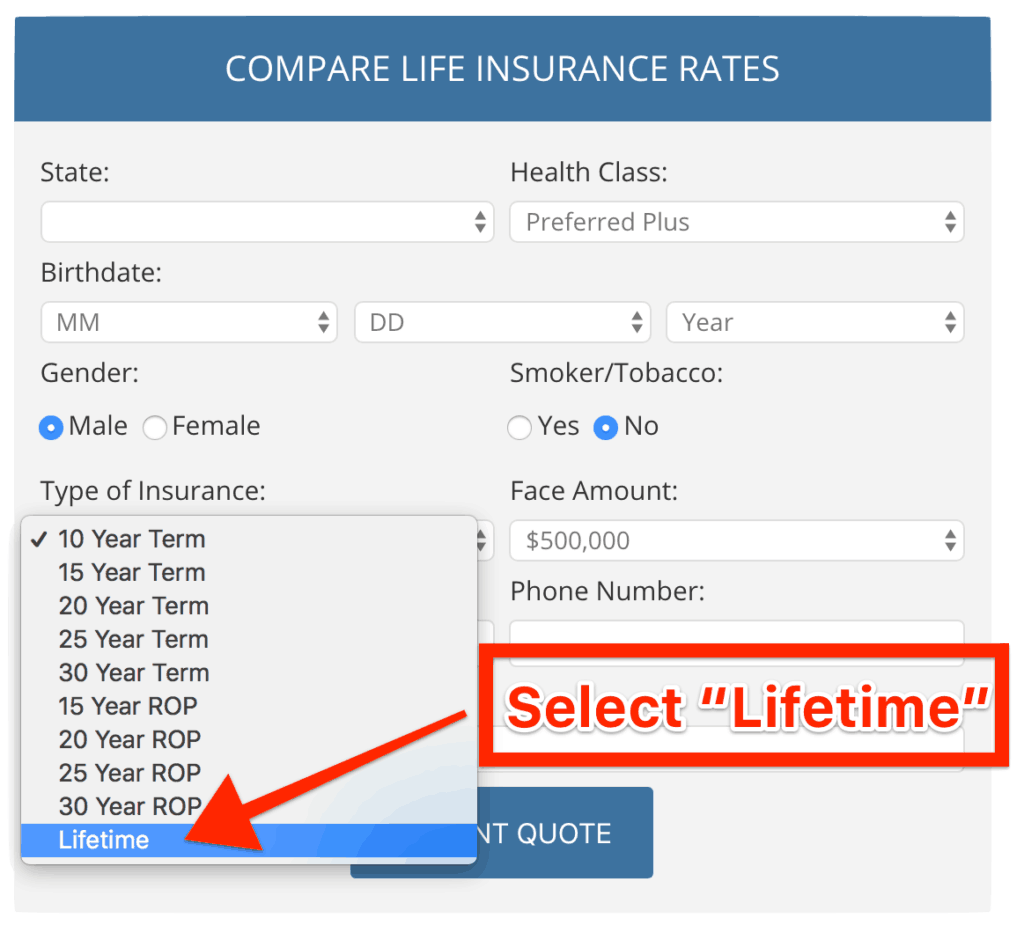 Guaranteed Universal Life Insurance Quotes